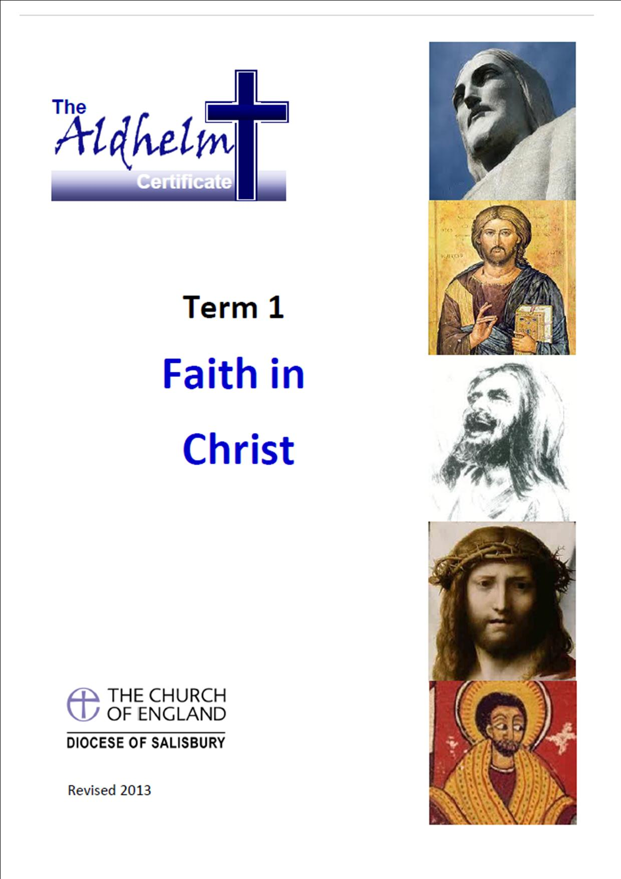 Aldhelm Certificate Term 1-Faith in Christ Booklet-Pack of 10