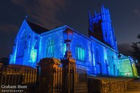 Beaminster church goes blue for the NHS